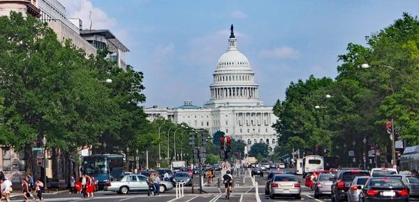 View of Washington DC Capital